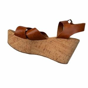 BARNEYS NEW YORK leather strappy wedges